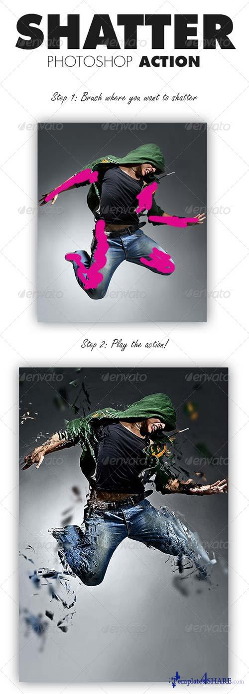 GraphicRiver Shatter Photoshop Action