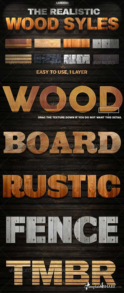 GraphicRiver The Realistic Wood Styles