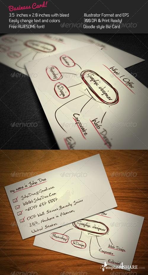 GraphicRiver Doodle Business Card