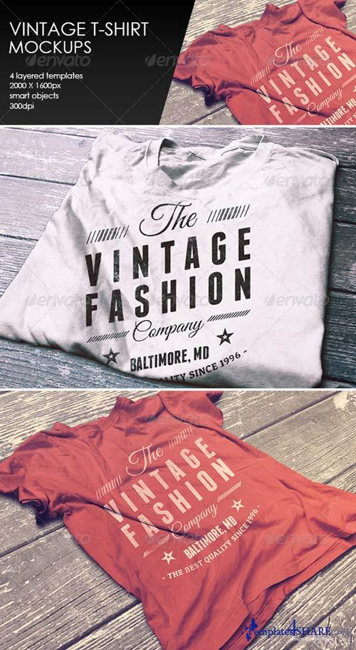 GraphicRiver Vintage T-Shirt Mockup