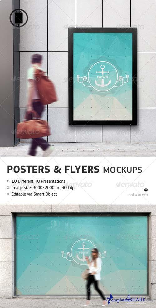 GraphicRiver Flyer, Poster and Billboard Mockups