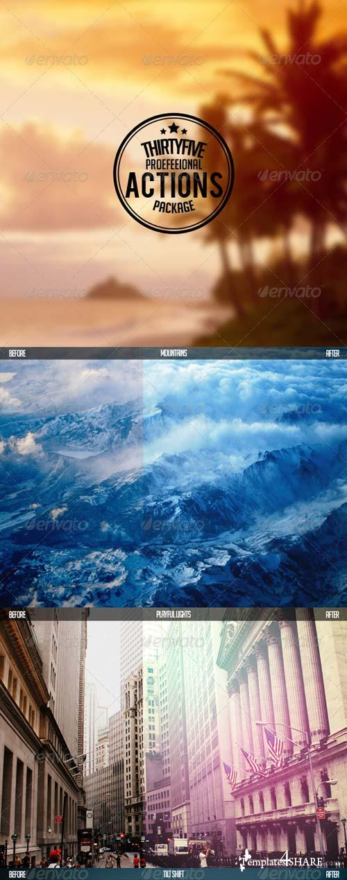 GraphicRiver 35 Pro Actions Pack