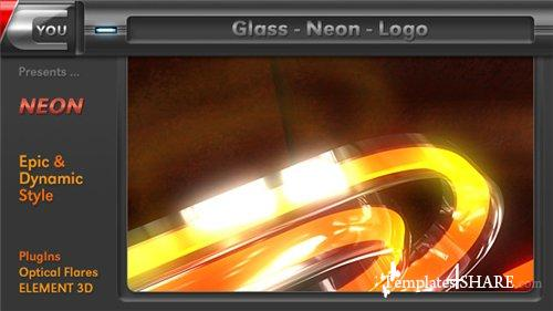 Glass Neon Logo - After Effects Project (Videohive)