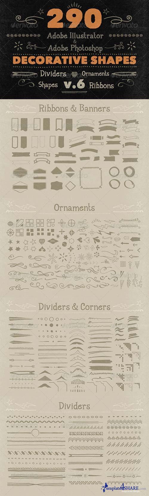 GraphicRiver 290 Handwritten Decorative Shapes 06