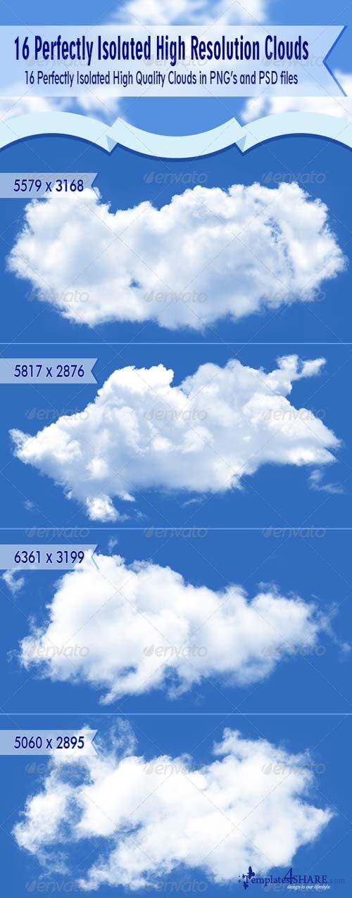 GraphicRiver Isolated clouds 2.0