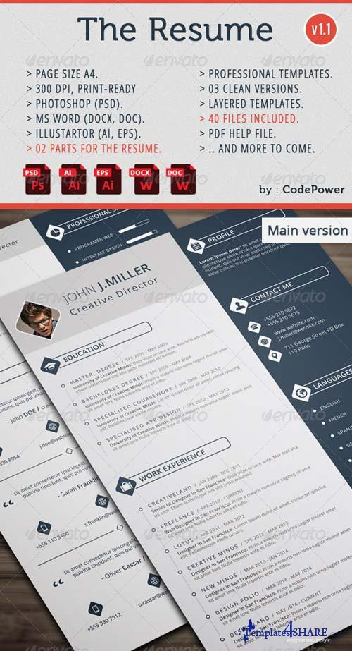 graphicriver the resume  u00bb templates4share com