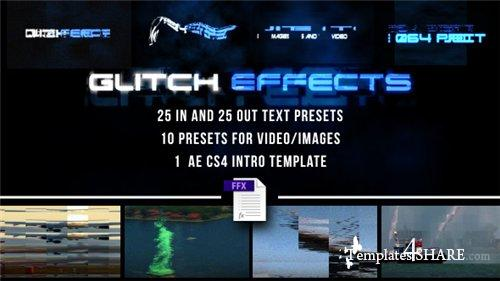 Glitch Presets for Text and Video - After Effects Project (Videohive)