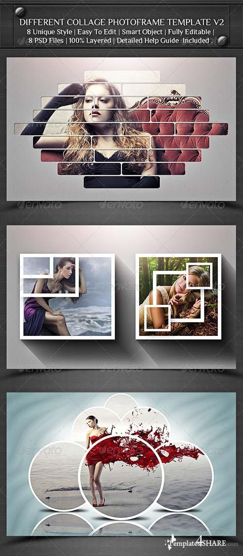 GraphicRiver Different Collage Photoframe Template V2