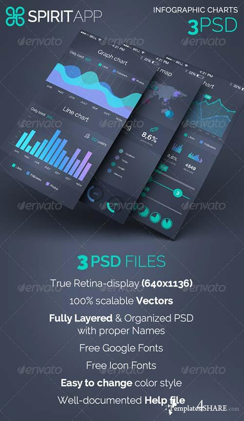 GraphicRiver SpiritApp - Infographic Chart