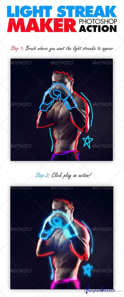 GraphicRiver Light Streak Maker Photoshop Action