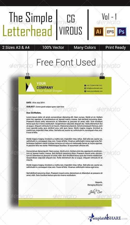 GraphicRiver The Simple Letterhead Vol-1