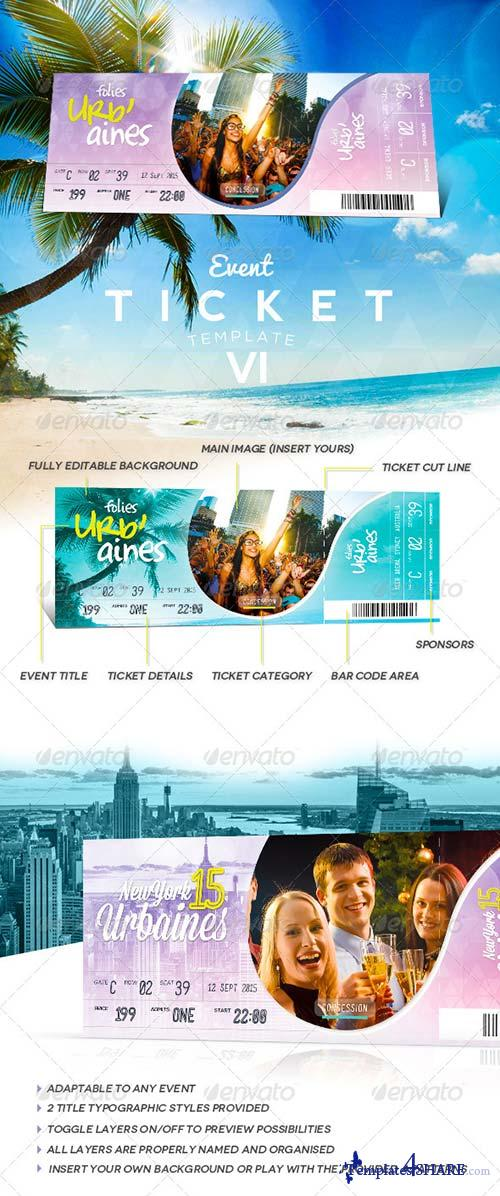 GraphicRiver Event Tickets Template VII