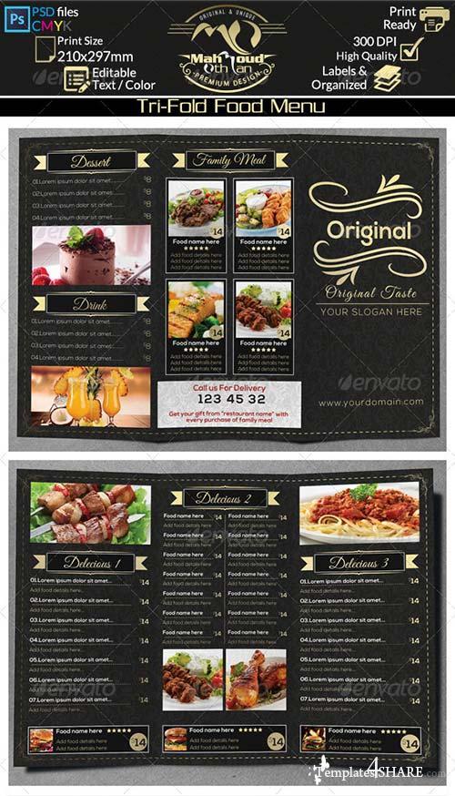 GraphicRiver Restaurant Food Menu Trifold
