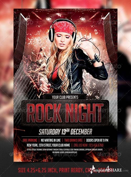 Graphicriver Rock Night Party Flyer Template  TemplatesShareCom