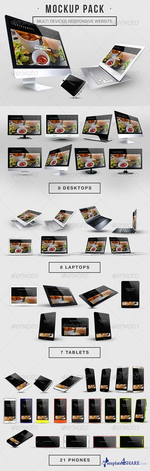 GraphicRiver Multi Devices Responsive Website Mockup Pack