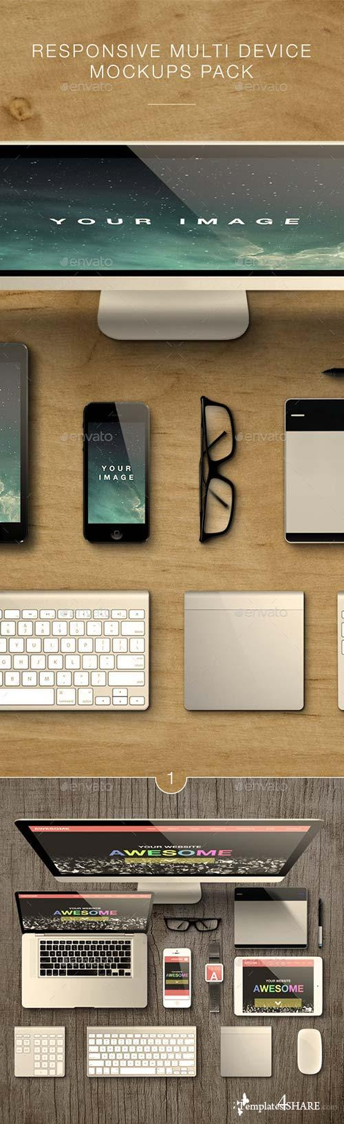 GraphicRiver Responsive Multi Device Mockups Pack