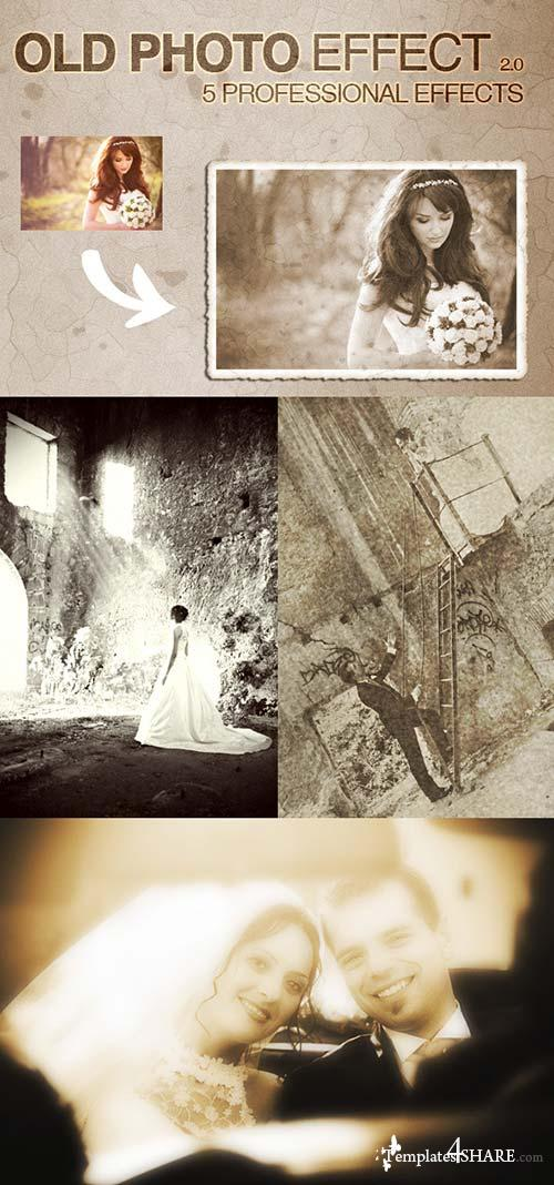 GraphicRiver Old Photo Effects 2.0 - 5 Pro Actions