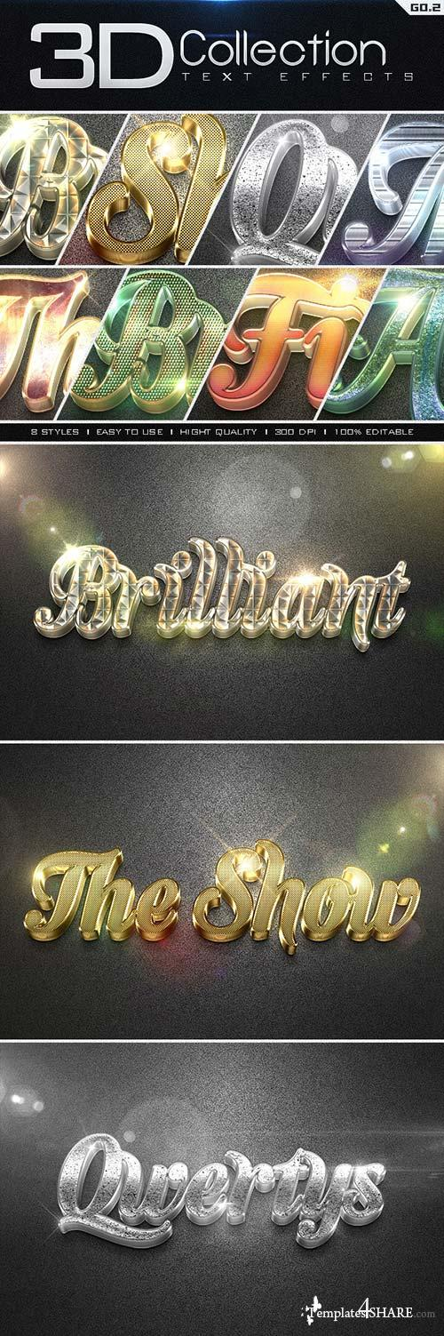 GraphicRiver 3D Collection Text Effects GO.2