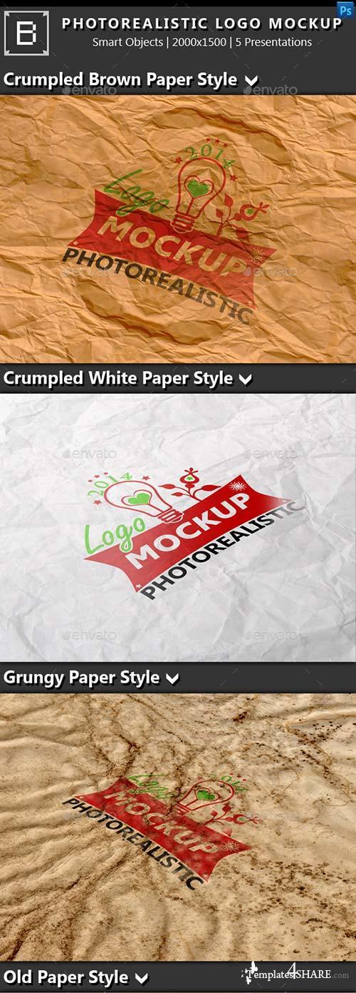GraphicRiver Photorealistic Logo Mock-Up 8996158