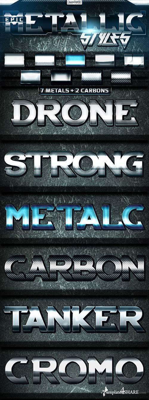 GraphicRiver Epic Metallic Styles