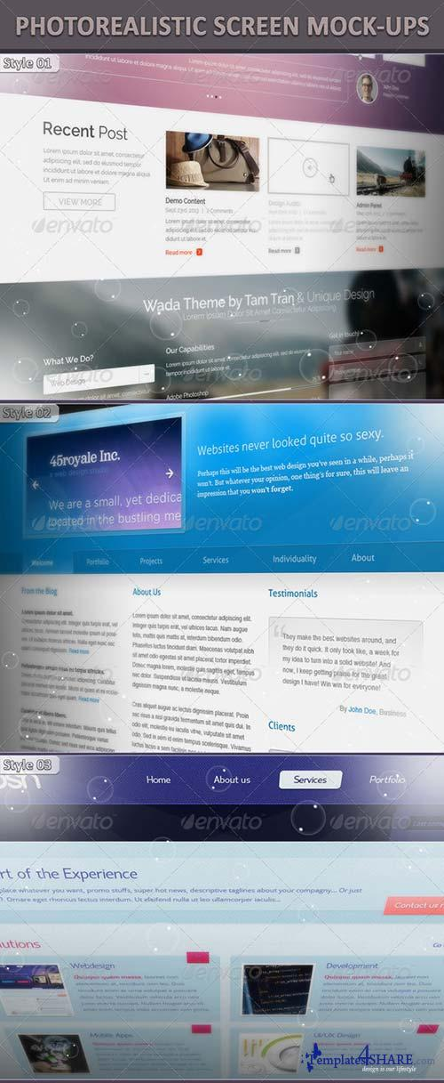 GraphicRiver Photorealistic Screen Mock-Up