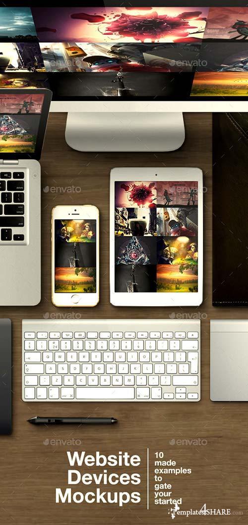 GraphicRiver Website Devices Mockups
