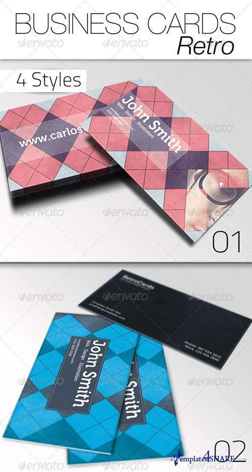 GraphicRiver Business Card - Retro