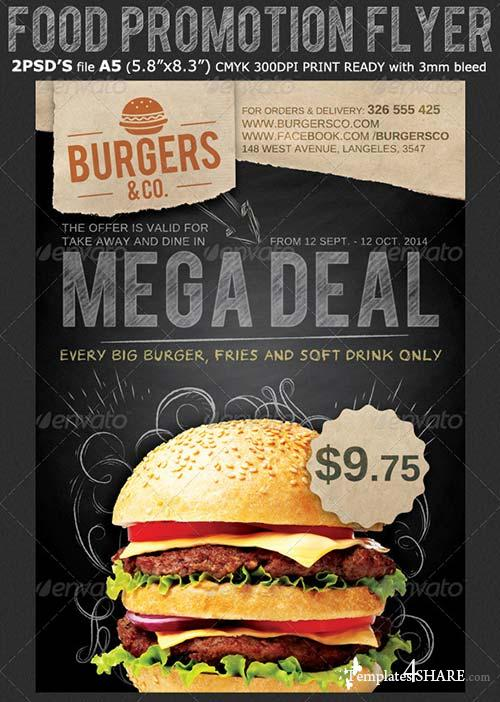 GraphicRiver Restaurant/Food Promotion Flyer Template