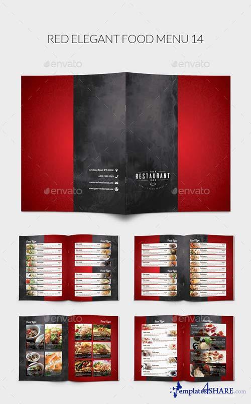 GraphicRiver Red Elegant Food Menu 14