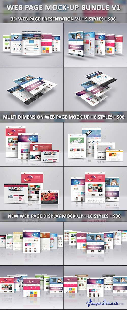 GraphicRiver Web Page Mock-Up Bundle V1