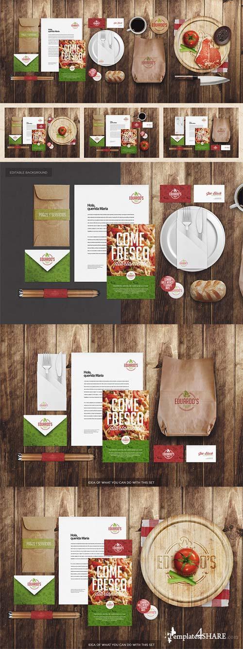 CreativeMarket Restaurant / Food Identity Mock-up