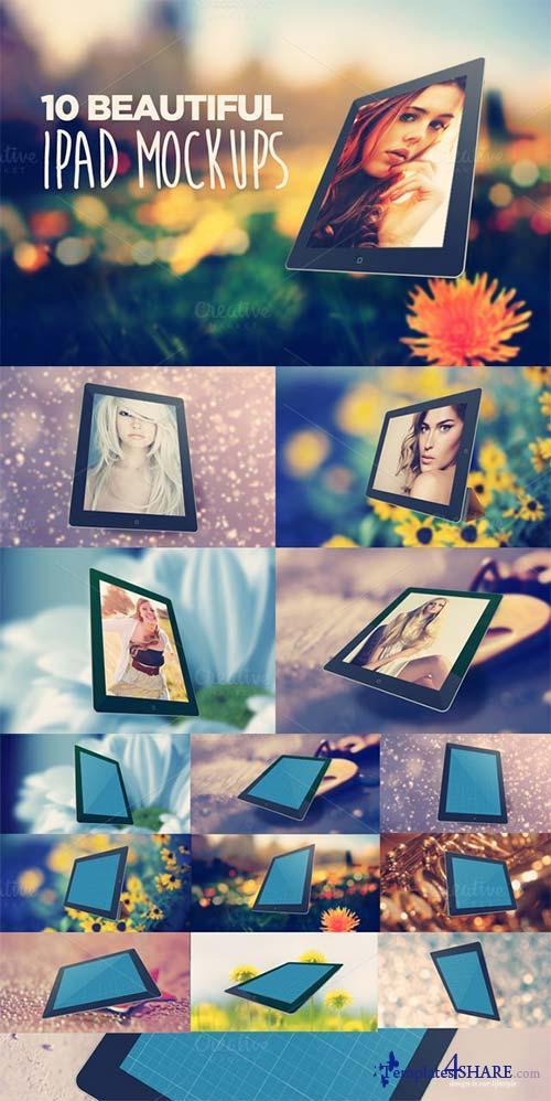 CreativeMarket 10 Beautiful Ipad Mockups