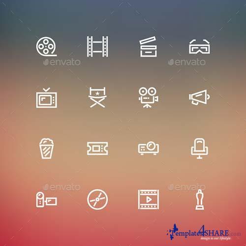 GraphicRiver Cinema Icons