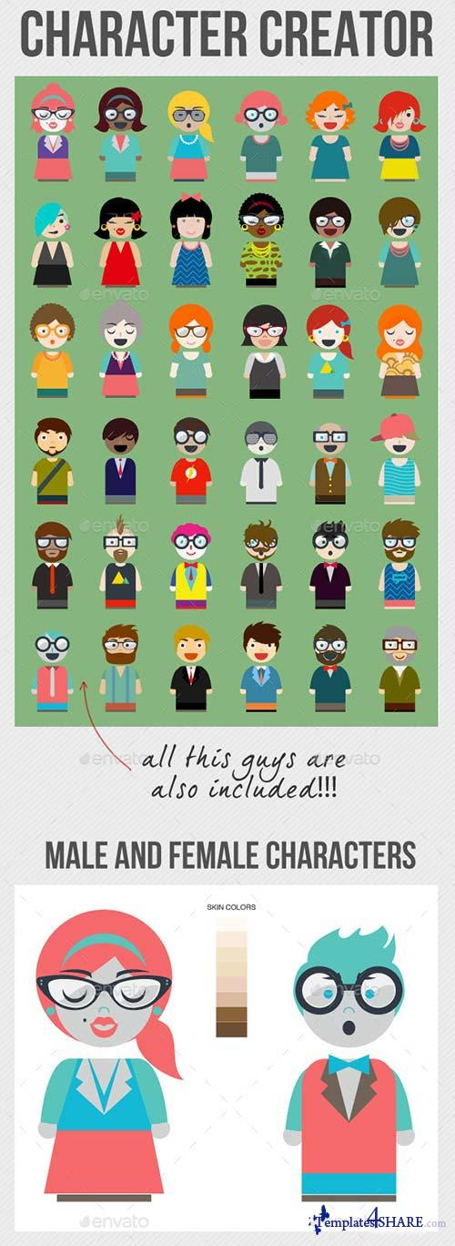 Free Character Design Website : Graphicriver character creator � templates share