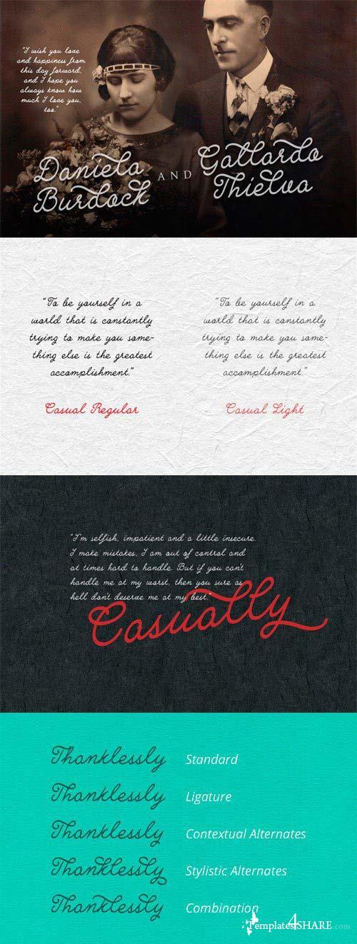 Casually Font Family