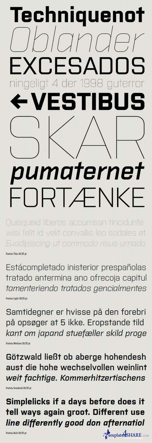 Purista Font Family