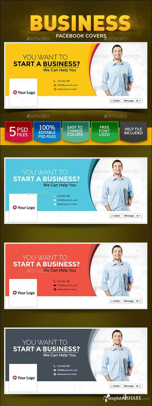 GraphicRiver Business Facebook Covers 8988855
