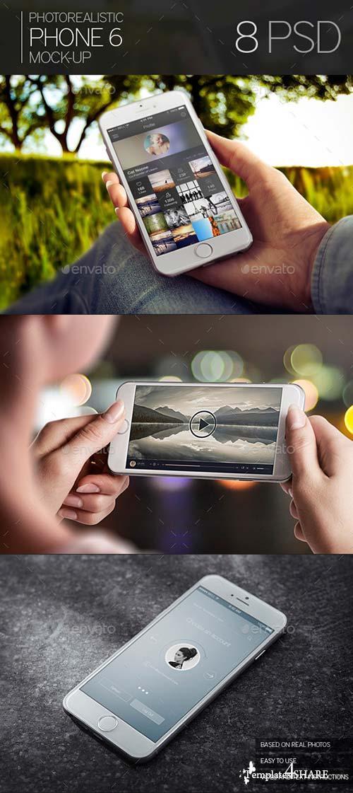GraphicRiver Photorealistic Phone 6 Mock-Up