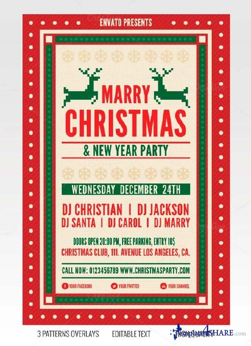 CreativeMarket Christmas Flyer