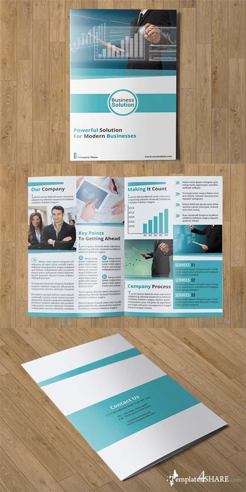 CreativeMarket Corporate Bifold Brochure-V04