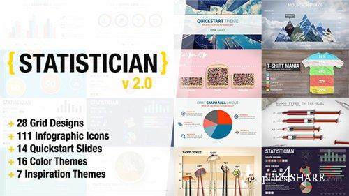Statistician - Massive Info Graphics Kit - After Effects Project (Videohive)