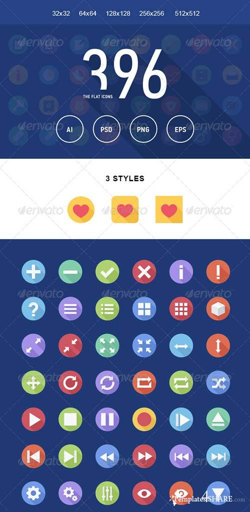 GraphicRiver The Flat Icons 396