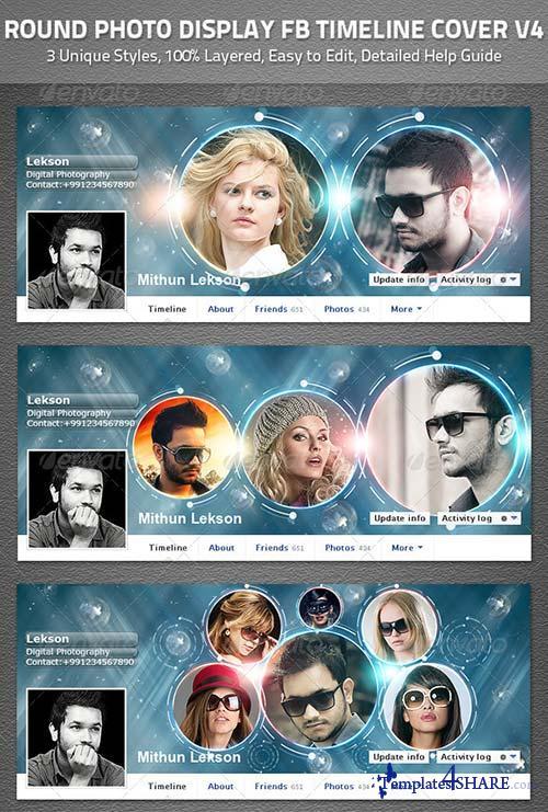 GraphicRiver Round Facebook Timeline Cover V4