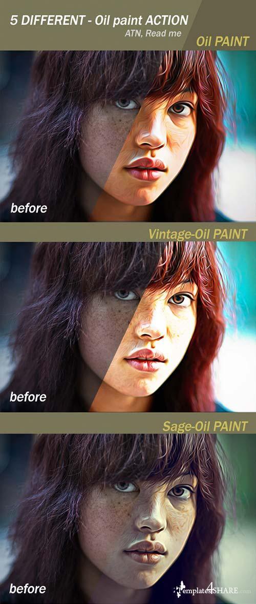 GraphicRiver Oil Paint Action