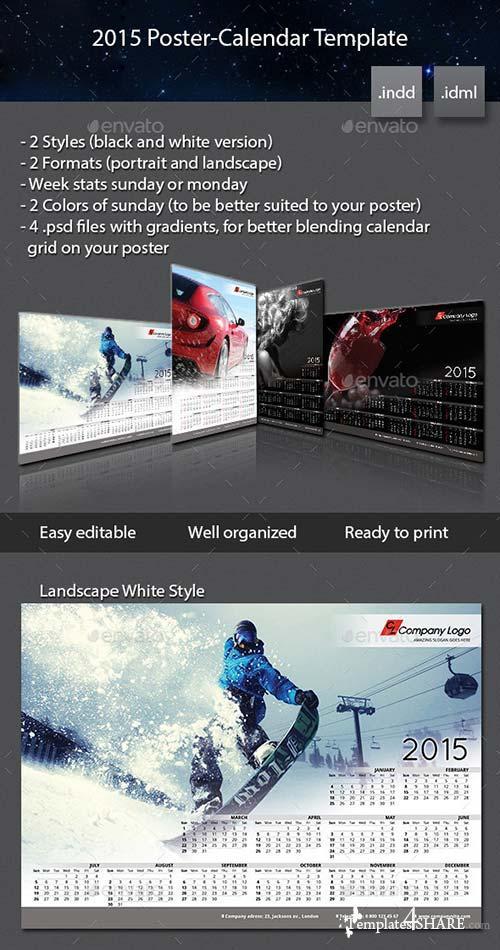 GraphicRiver 2015 Poster-Calendar template