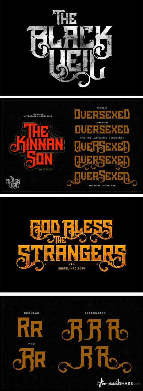 The Black Veil Font Family