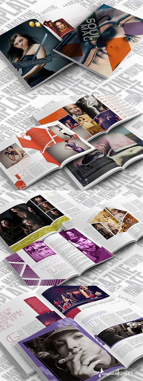 CreativeMarket Indesign Lifestyle Magazine