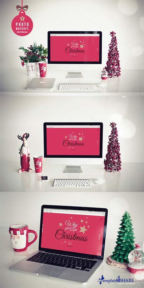 CreativeMarket Christmas 4 photo mockups