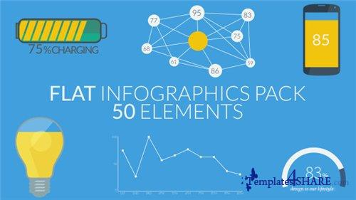 Flat Infographics Pack (50 Elements) - After Effects Project (Videohive)