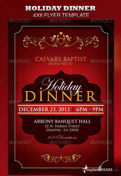 GraphicRiver Holiday Dinner Church Flyer Templates4share – Dinner Flyer